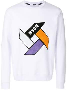 MSGM geometric pattern sweatshirt