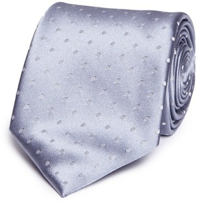 TOMORROWLAND Polka dot jacquard silk satin tie