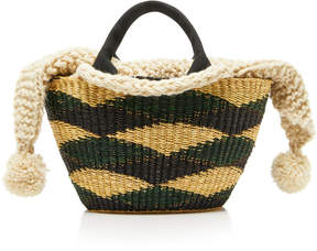 Muun Graham Mini Canvas-Trimmed Crochet-Knit And Straw Tote