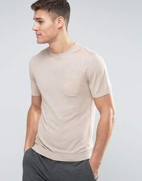 MANGO Man Knitted T-Shirt In Beige