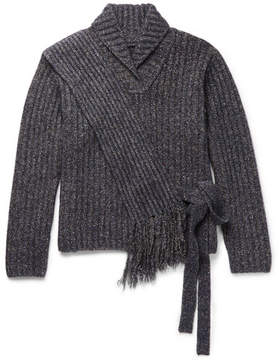 Craig Green Mélange Ribbed-Knit Sweater