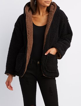Charlotte Russe Reversible Faux Fur Coat