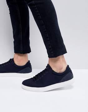 Emporio Armani Canvas Sneakers In Navy