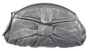 Saint Laurent Metallic Grained Leather Clutch