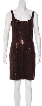 Carmen Marc Valvo Sequin Mini Dress