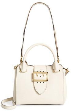 Burberry Small Buckle Leather Satchel - Grey - GREY - STYLE