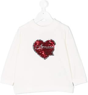 Armani Junior sequined heart sweatshirt