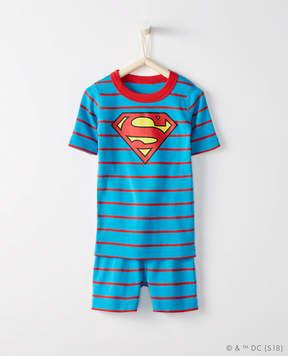 Hanna Andersson JUSTICE LEAGUE SUPERMAN Short John Pajamas In Organic Cotton