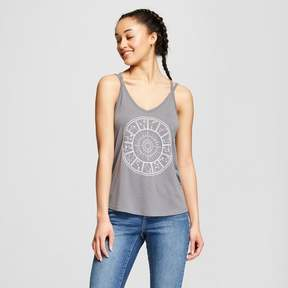 Fifth Sun Women's Circle Constellations Graphic Tank Top Juniors') Charcoal