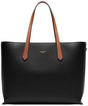 Givenchy black gv3 leather shopper