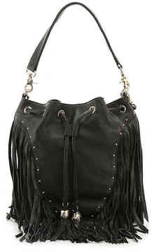 Women's Amber Leather Backpack -Black