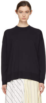 Enfold Navy High Twisted Box Sweater