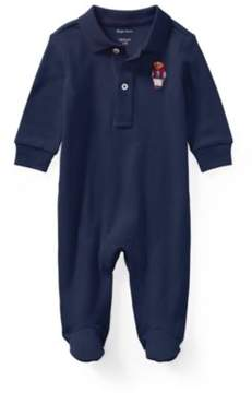 Polo Ralph Lauren Bear Cotton Coverall French Navy 9M