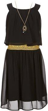 I.N. Girl Big Girls 7-16 Halter-Neck Pleated Dress