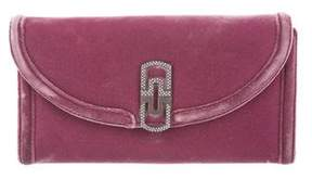 Bvlgari Embellished Flap Clutch
