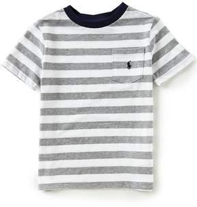 Ralph Lauren Little Boys 2T-7 Short Sleeve Striped Jersey T-Shirt