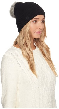 UGG Luxe Cuff Hat w/ Oversized Toscana Pom Beanies