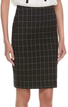 Elle Women's ElleTM Grid Pull-On Pencil Skirt