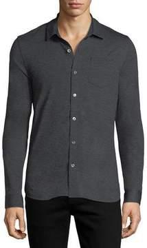 Michael Kors Wool Button-Front Shirt