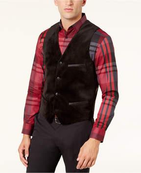 Alfani Men's Velvet Satin-Trim Vest, Created for Macy's