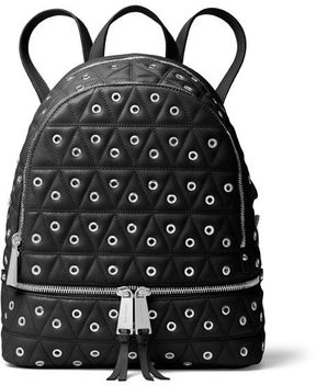 MICHAEL Michael Kors Rhea Leather Backpack With Studs - BLACK - STYLE