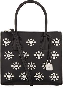 Michael Kors Medium Mercer Embellished Tote Bag - BLACK - STYLE