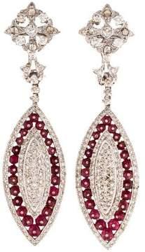 Amrapali 18K Spinel & Diamond Drop Earrings