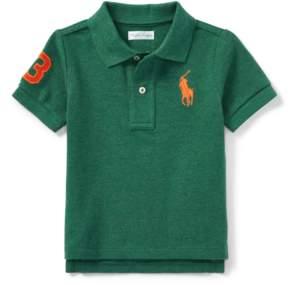 Ralph Lauren | Cotton Mesh Polo Shirt | 18-24 months | Green heather