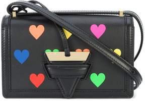 Loewe Small Barcelona Bag with Multicolor Hearts