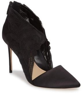 Imagine by Vince Camuto Women's Obin Lace Detailed Pointy Toe Pump