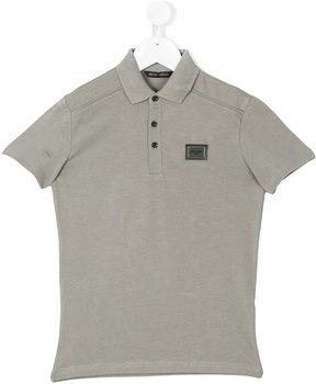 Antony Morato logo patch polo shirt