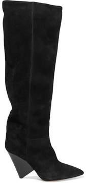 Isabel Marant Lokyo Suede Knee Boots - Black