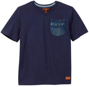 7 For All Mankind Patch Pocket Tee (Little Boys)