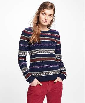 Brooks Brothers Lambswool Fair Isle Sweater