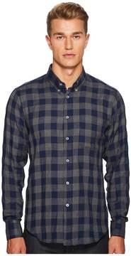Naked & Famous Denim Herringbone Check Shirt Men's Clothing