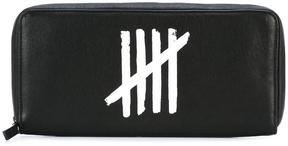 Ann Demeulemeester logo print case wallet