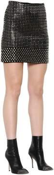 David Koma Studded Wool Crepe Mini Skirt