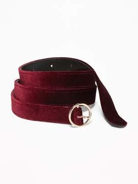 Old Navy Skinny Velvet O-Ring Belt for Women