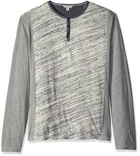 Calvin Klein Jeans Gray Mens Size Medium M Colorblock Henley Shirt