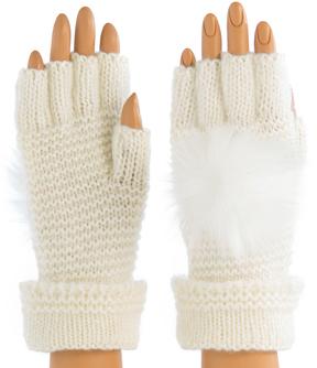 Shiraleah Ivory Portia Fingerless Gloves