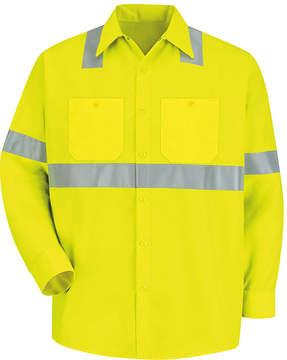 JCPenney Red Kap Long-Sleeve High-Visibility Shirt - Big & Tall