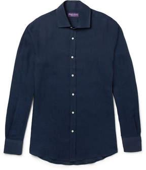 Ralph Lauren Purple Label Cutaway-Collar Linen Shirt