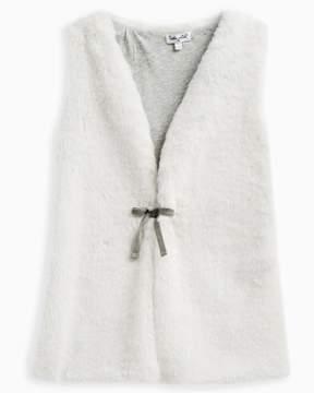 Splendid Girl Faux Fur Vest Tie