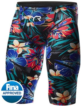 TYR Men's Limited Edition Lava Avictor High Short Jammer Tech Suit Swimsuit 8150986