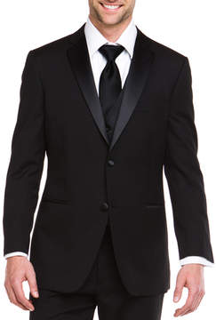 Ike Behar Ike Evening By Black 2 Button Notch Lapel Classic Fit Tuxedo
