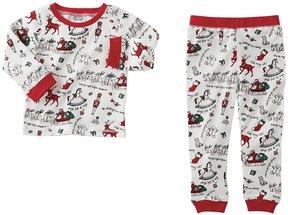 Mud Pie Baby 9-18 Months Very Merry Christmas Pajama Top & Pajama Pant Set
