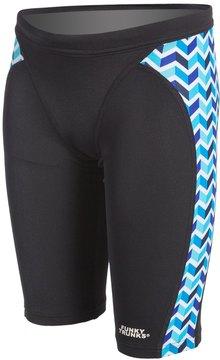 Funky Trunks Chevron Stream Youth Training Jammer Swimsuit 8133554