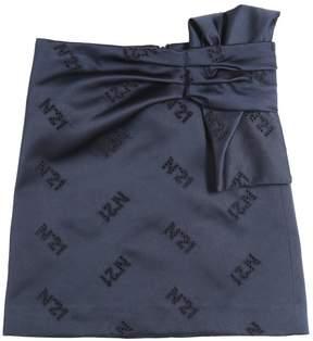 N°21 Embroidered Logo Satin Duchesse Skirt