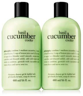 philosophy Basil Cucumber Cooler Shampoo, Bath & Shower Gel - Set of Two