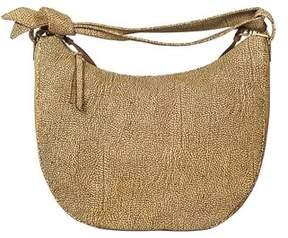 Borbonese Women's Brown Suede Shoulder Bag.